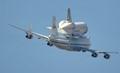 Shuttle over Houston