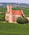 Eglise St. Germain in the vineyards, Fuissé, France