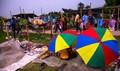 Monsoon month,village fair, Rural Bengal,India.