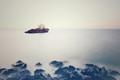 Ship wreck on horizon