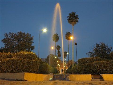 Water Fountain Park Night Shot Springbrunnen Nacht Shiraz Iran