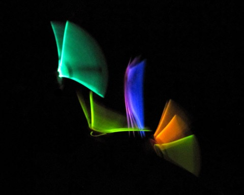 Fanning Colors In The Night