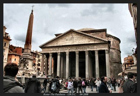 Rome-The Pantheon - 128 D.C. 04-2008