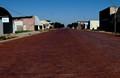 Brick road in Stroud, Oklahoma.