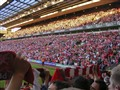 A sea of red passion