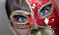Mask and blue eyes