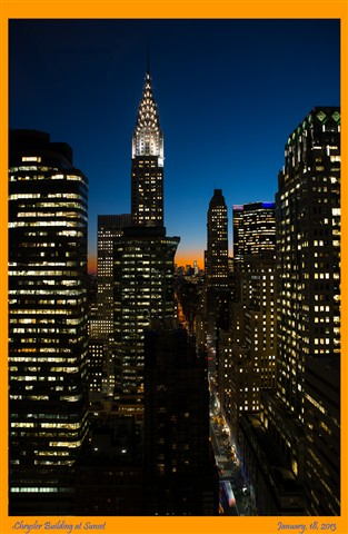 Chrysler Building at Sunset (framed)