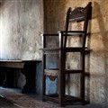 A Chair in Titian's Birth House, Pieve di Cadore, Italy