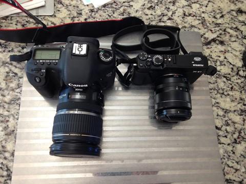 Canon 7D and Fujifilm X-E1