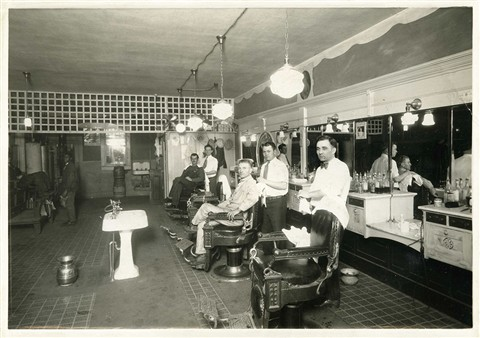 Old Time Barber Shop, circa 1921