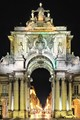 Lisbon's famous arch and pedestrian boulevard