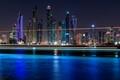 Dubai Marina at Night - Dubai, UAE - Long Exposure