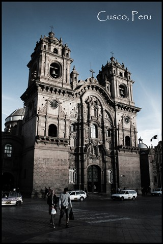 Church in Cusco postcard
