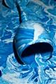 blue paint swirl