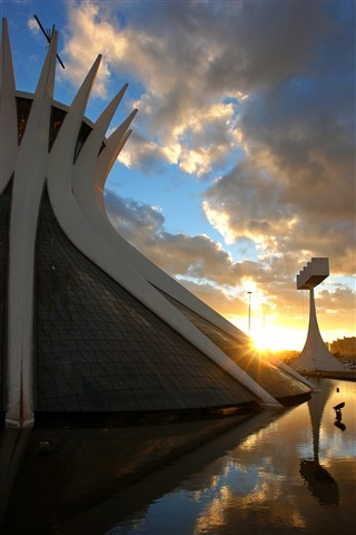 Brasilia Cathedral at sunset