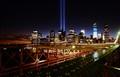 DSC_0284...the 9/11 Memorial lights at Manhattan,NYC...