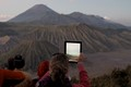 Female photographer at Mount Bromo, Java