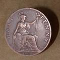 English half penny 1900