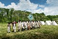 American Revolutionary War Reenactors at Jockey Hollow National Historical Park, NJ, site of Continental Army encampment for the winter of Dec 1779 to June 1780.