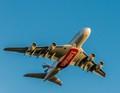 Airplane leaving Copenhagen