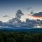Storm Over Grandfather: Storm clouds at sunset over Grandfather Mountain in the Blue Ridge Mountains of North Carolina