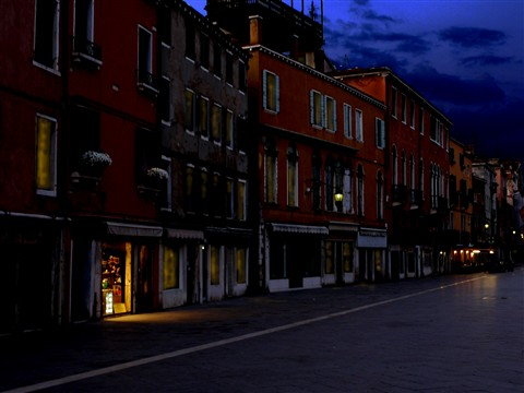 Twight light time in Venice