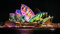 Sydney Opera House.lit up.