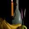 Orange Candle Bleu Bouteille