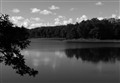 Little Horseshoe Lake in Black and White