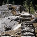 Broken suspension bridge
