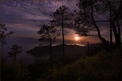 Sunset in Cinque terre / Italy