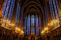 The Beautiful Stained Glass Windows at St. Chapelle Cathedral, Paris