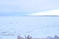 Horizon over frozen Lake Michigan