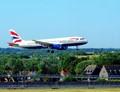 Landing at Gatwick Airport.