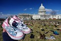 U.S. Congress lawn filled with empty shoes of gun violence victims, Washington, D.C.