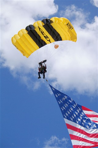 parachutist american flag large