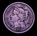 The three-cent coin has an unusual history. It was proposed in 1851 both as a result of the decrease in postage rates from five cents to three and to answer the need for a small-denomination, easy-to-handle coin.