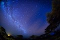 On the clear night from Aboseli National Park you can see Kilimanjaro and the Galaxy.