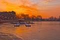 A winter sunrise over the Washington, DC tidal basin.
