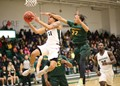 Morrisville player heading to the basket.