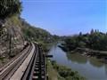 Railway track on The Death Railway Line