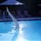 Female swimming pool diver