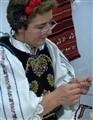 Lady in Romainian national dress