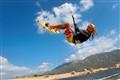 Kite surfer flying