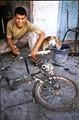 Bike repair shop apprentice , seen in Egypt