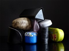 Collection of glasses cases