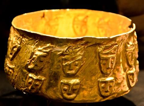 Inca gold bowl - Peru