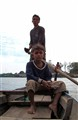 Boatmen on the Mekong