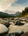 Mount Ranier from a glacier creek