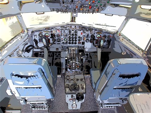 Jetliner cockpit in Keyline